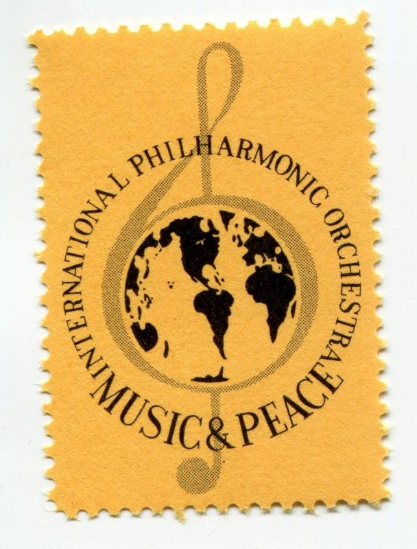International Philharmonic Orchestra Music Peace globe world charity poster seal