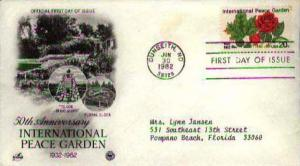 United States, First Day Cover, Flowers, North Dakota