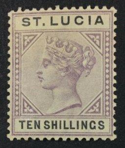 MOMEN: ST LUCIA SG #52 1891-8 MINT OG LH LOT #61216