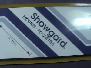 SHOWGARD MOUNTS # 33--215MM LONG x 33MM WIDE---22 STRIPS---BLACK /NEW