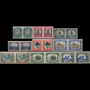 SOUTH AFRICA 1947 - Scott# O43-54 Fauna etc. 1/2p-10s LH