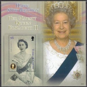 2006 Turks & Caicos Islands 1823/B231 80th anniversary of Queen Elizabeth II 12,