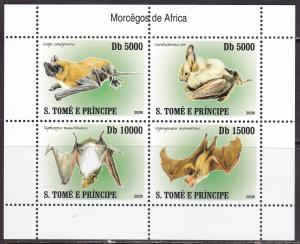 Sao Tome and Principe, Fauna, Animals, Bats MNH / 2007