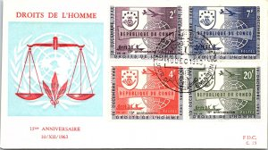Congo, Worldwide First Day Cover