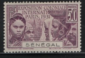 SENEGAL, 139, HINGED, 1931, COLONIAL EXPOSITION ISSUE