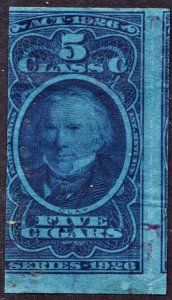 TC438a 5 Class C Cigars; Act of 1926; Series 103 (1926) Used