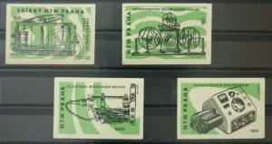 Match Box Labels ! industry machines science astronomy micriscope prague GN7