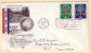 United Nations FDC Sc. # 81 / 82   L 81 Forestry Congress