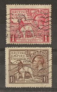 GB 1924 BEE Pair Good Used