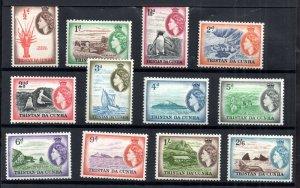 Tristan Da Cunha QEII 1954 LHM set to 2s 6d SG14-25 WS18500