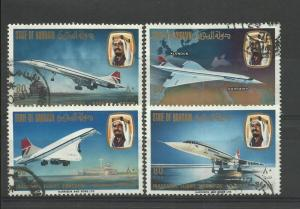 BAHRAIN 1976,CONCORDE SET VFU.