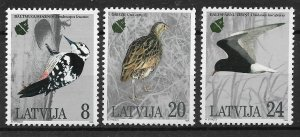Latvia MNH 396-8 Birds Nature Conservation 1995