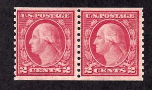 492 Mint,DG,NH... Pair... SCV $45.00