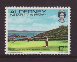 1983 Alderney 17p U/M SGA11