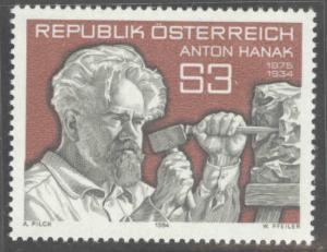 Austria Osterreich Scott 1265 MNH** 1984 sculptor stamp