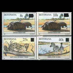 BOTSWANA 1992 - Scott# 506-9 Wildlife Surch. Set of 4 NH