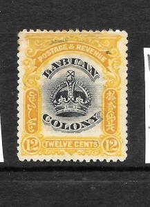 LABUAN   1902   12c  CROWN  MH   SG 123