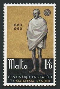 Malta 397,MNH.Michel 386. Mahatma K.Gandhi,birth centenary,1969.