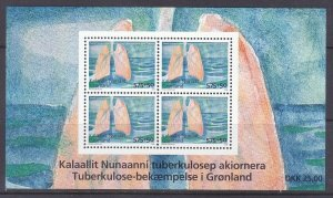 Greenland B33 MNH 2008 Fight Against Tuberculosis Souvenir Sheet of 4