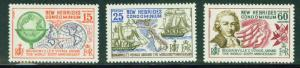 New Hebrides (British) Scott 127-129 MNH** 1968 set
