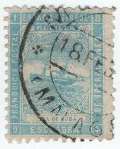 (I.B-CK) Spain Colonial Postal : Melilla Naval Post (Isla de Huba)
