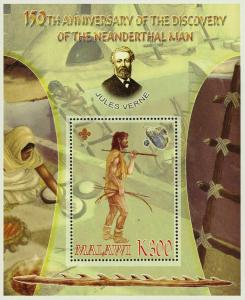 Malawi Anniversary of Discovery of Neanderthal Man Souvenir Sheet Mint NH