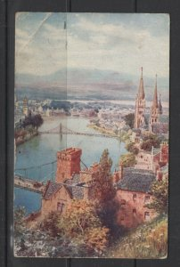 UK 1926 Inverness Castle Hill Painting After H R Wimbush Postal Card Used PC