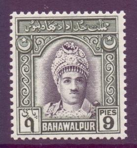 Pakistan Bahawalpur Scott 4 - SG21, 1948 Amir 9p MH*
