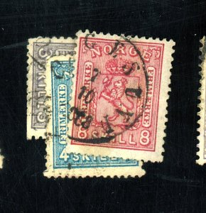 NORWAY #11-5 USED FVF CPL TINY DEFECTS Cat $345