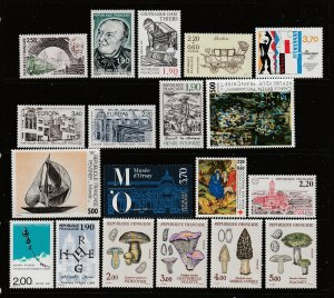 France a small MNH lot from 1987