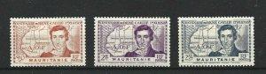 MAURITANIA  1939  S G 110 - 112  CAILLIESET  MH