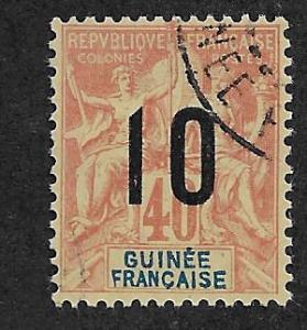 FRENCH GUINEA SC# 53  F/U    1912
