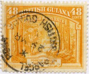 BRITISH GUIANA - 195? - SG314a 48c Orange p.14x13 cancelled PARCEL POST CDS