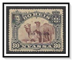 Nyassa #44 Camels Surcharged NG
