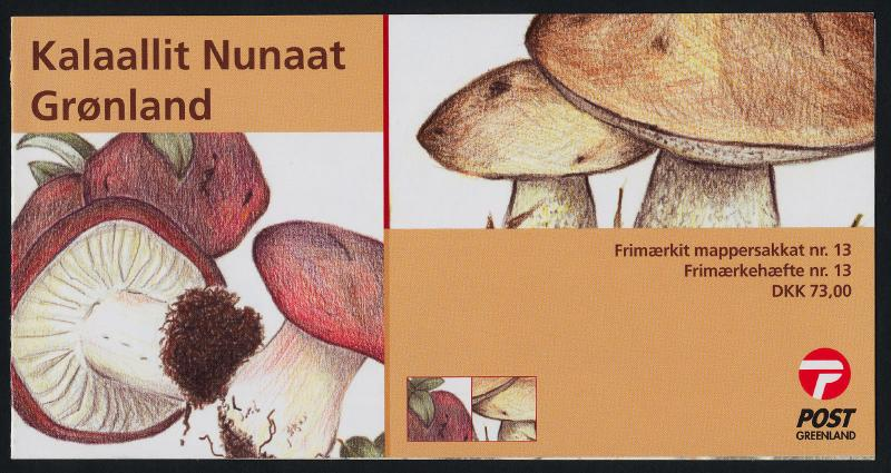 Greenland 451a Booklet MNH Mushrooms