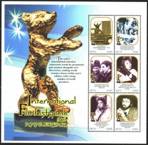 Nevis. 2000. Small sheet 1552-57. Movies, 50th Anniversary of the Berlin Film...