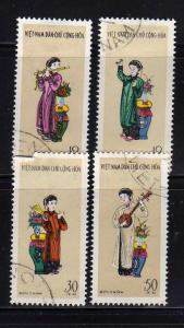 North Vietnam 179-182 Set U Musicians, Costumes (B)