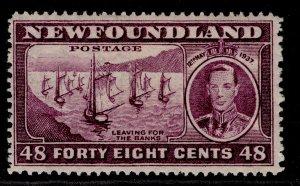 CANADA - Newfoundland GVI SG267, 48c slate-purple, M MINT. Cat £11.