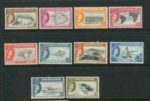 Ascension Island #62-71 Mint