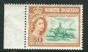 NORTH BORNEO; 1961 early QEII issue fine Mint hinged Marginal value, 50c