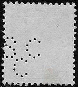 Canada, SC 218, used, perfin, jumbo margins