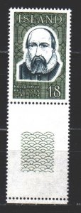 Iceland. 1975. 505 from the series. Pietursson, poet and preacher. MNH.