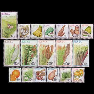 KENYA 2001 - Scott# 749-66 Crops Set of 18 NH