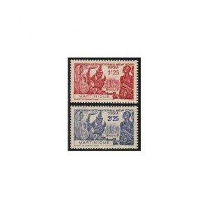 Martinique 186-187,MNH.Michel 188-189. New York World's Fair 1939.Colonial Art.