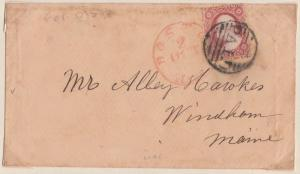 #25A ON COVER W/ PAID & RED CANCEL; PLATE NO. 60R5L CV $700.00 HV1220