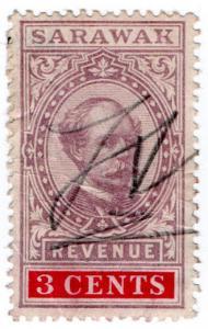 (I.B) Sarawak Revenue : Duty Stamp 3c