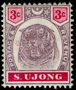 MALAYSIA - Sungei Ujong SG55, 3c dull purple & carmine, M MINT. Cat £27.