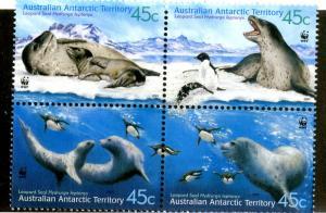 AUSTRALIA ANT TERR  L118 MNH SCV $9.00 BIN $4.50 MARINE LIFE