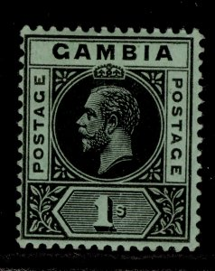 GAMBIA GV SG97, 1s black/green, M MINT.