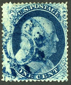 U.S. #21 USED BLUE CANCEL